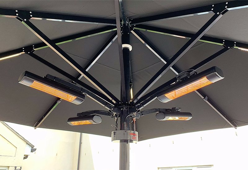 Umbrella heating system